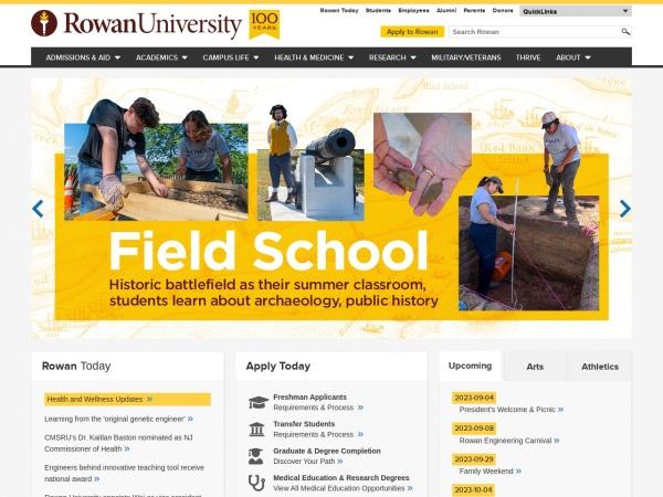 Screenshot of www.rowan.edu