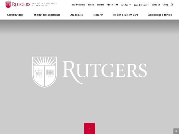 Screenshot of www.rutgers.edu