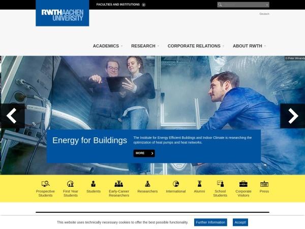 Screenshot of www.rwth-aachen.de