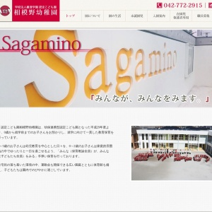 Screenshot of www.sagamino-kinder.jp