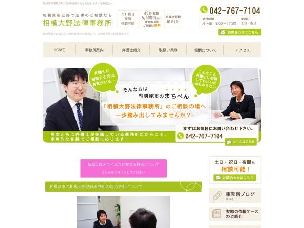 Screenshot of www.sagamionolaw.com