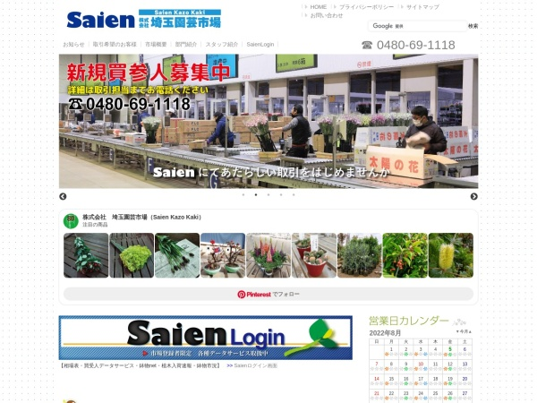 Screenshot of www.saien.co.jp