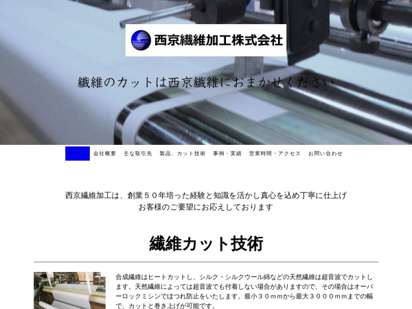 Screenshot of www.saikyo-fiber.com