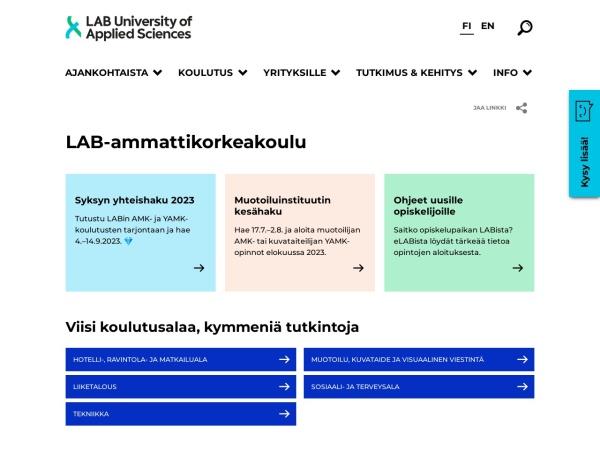 Screenshot of www.saimia.fi
