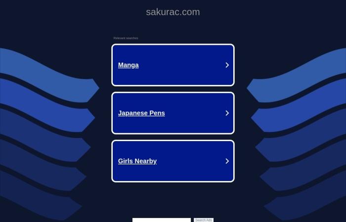 Screenshot of www.sakurac.com
