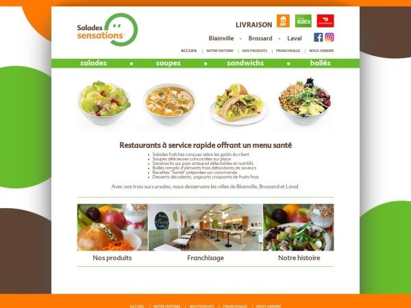 Screenshot of www.saladessensations.com