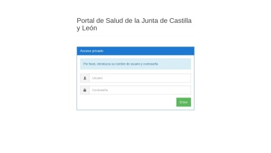 Autenticación - Portal de Salud de la Junta de Castilla y León