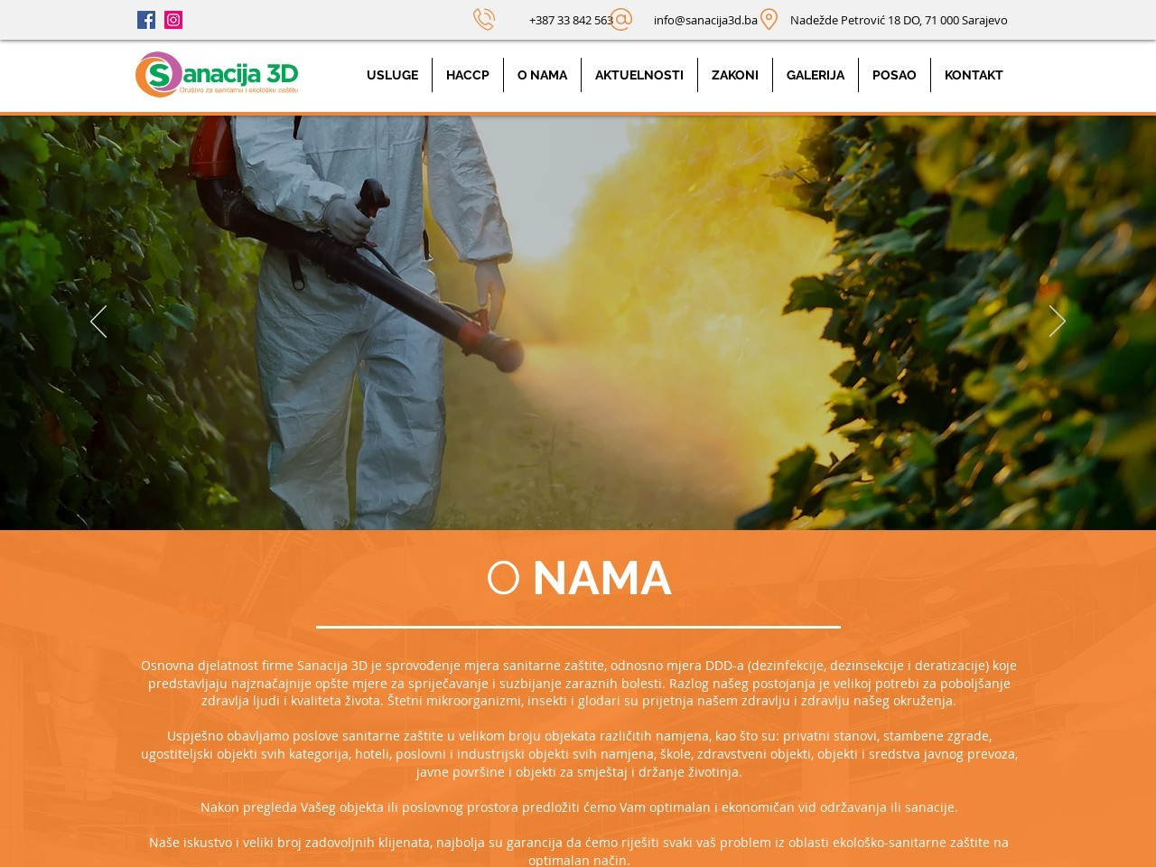 Screenshot of www.sanacija3d.ba
