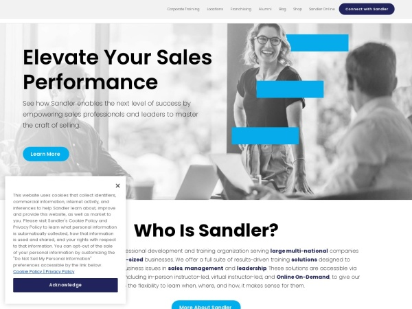 Screenshot of www.sandlercanada.com