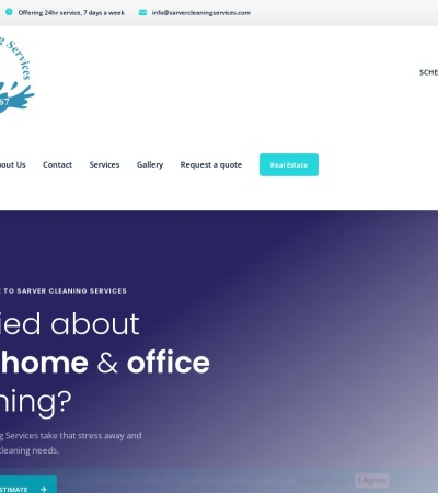 Screenshot of www.sarvercleaningservices.com