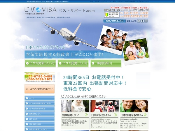 Screenshot of www.sato-ueno.com