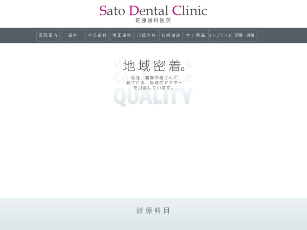 Screenshot of www.satodental.org