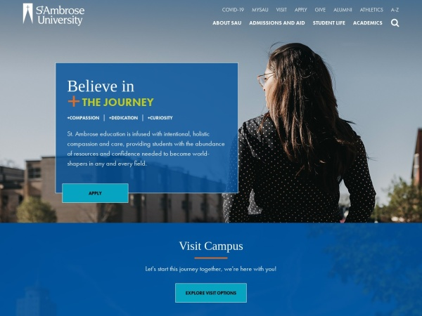 Screenshot of www.sau.edu