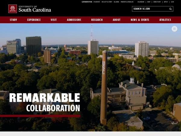 Screenshot of www.sc.edu