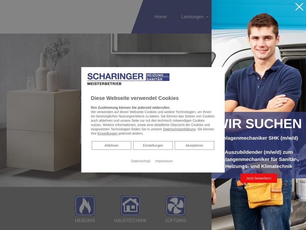 Screenshot of www.scharinger-heizung-sanitaer.de