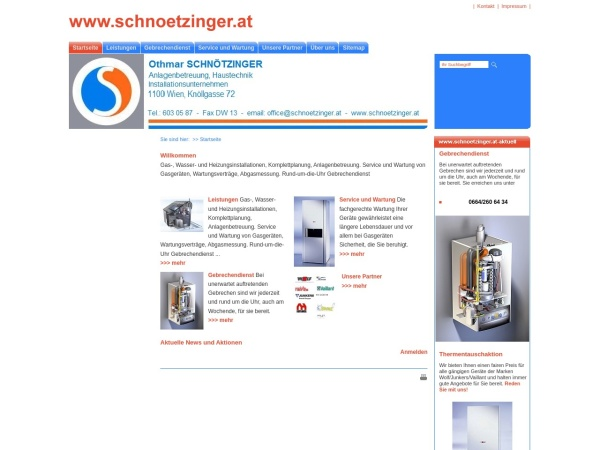 Screenshot of www.schnoetzinger.at
