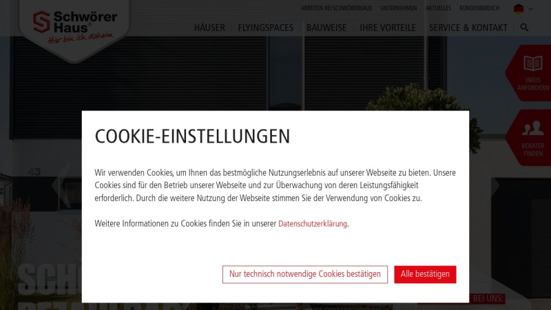 Screenshot of www.schwoerer.de