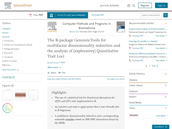 Screenshot of www.sciencedirect.com