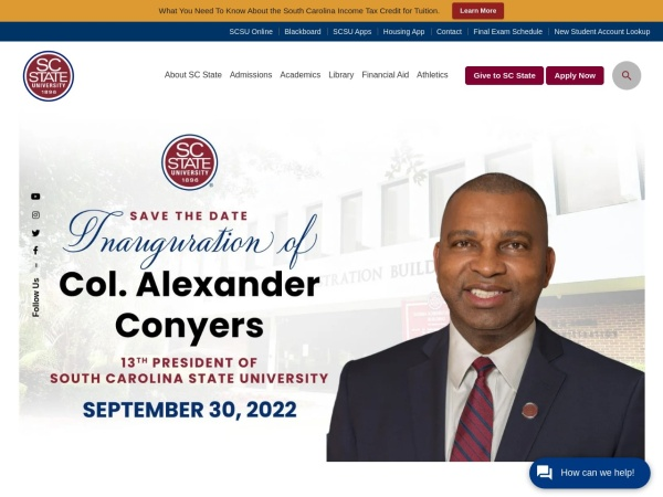 Screenshot of www.scsu.edu