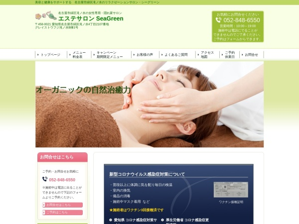 Screenshot of www.seagreen.info