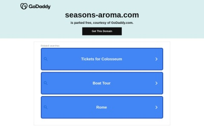 Screenshot of www.seasons-aroma.com