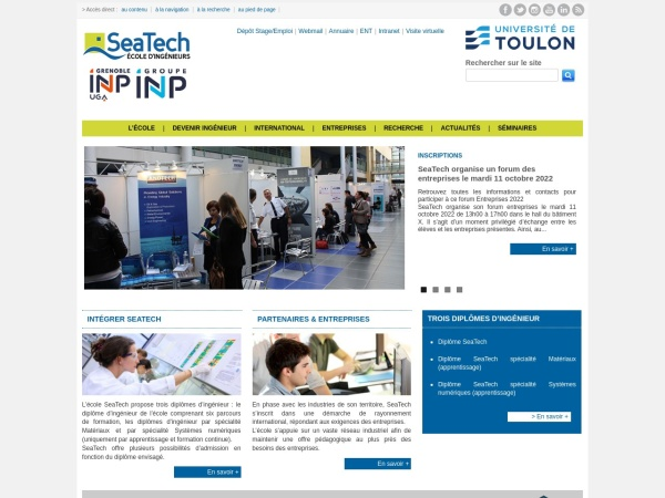 Screenshot of www.seatech.fr