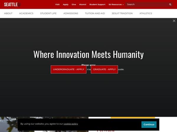 Screenshot of www.seattleu.edu