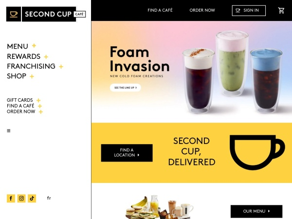 Screenshot of www.secondcup.com