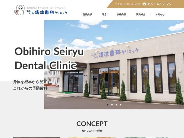 Screenshot of www.seiryu-shika.com