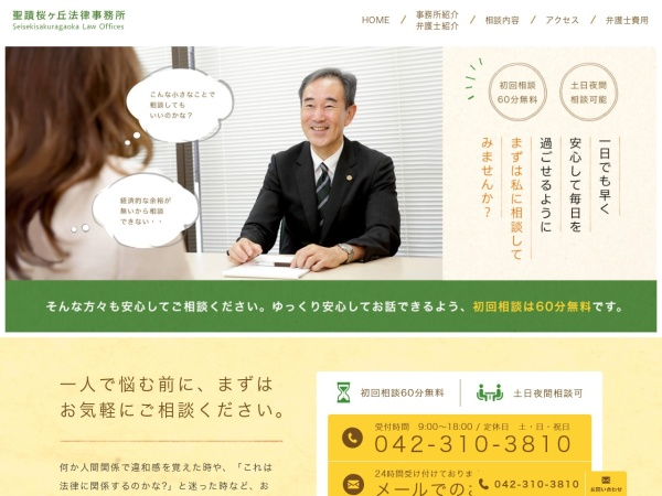 Screenshot of www.seisekilaw.jp