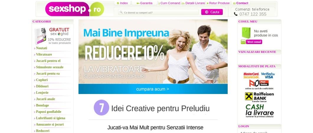 Screenshot of www.sexshop.ro