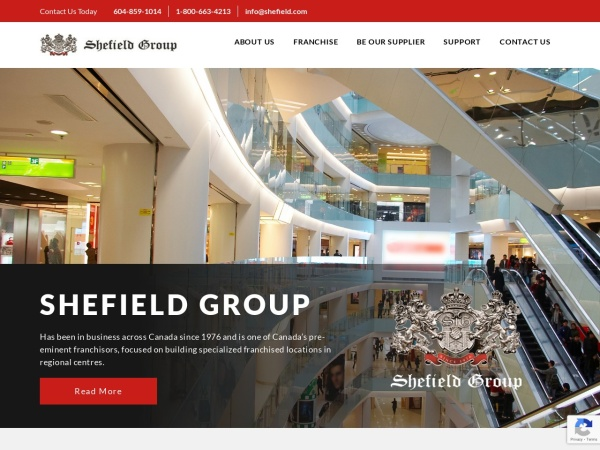 Screenshot of www.shefield.com