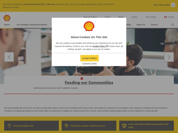 Screenshot of www.shell.ca