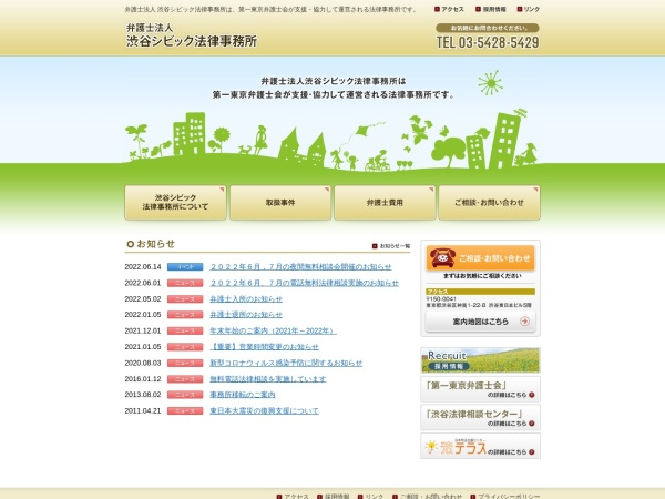 Screenshot of www.shibuya-civic-law.com