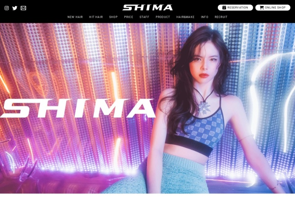 Screenshot of www.shima-hair.com