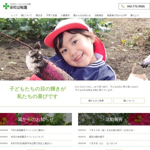 Screenshot of www.shincho-youchien.com