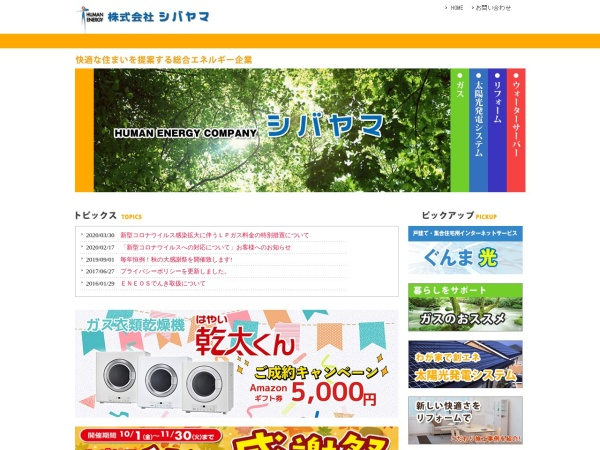 Screenshot of www.shivayama.co.jp