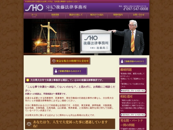 Screenshot of www.sho-goto.com