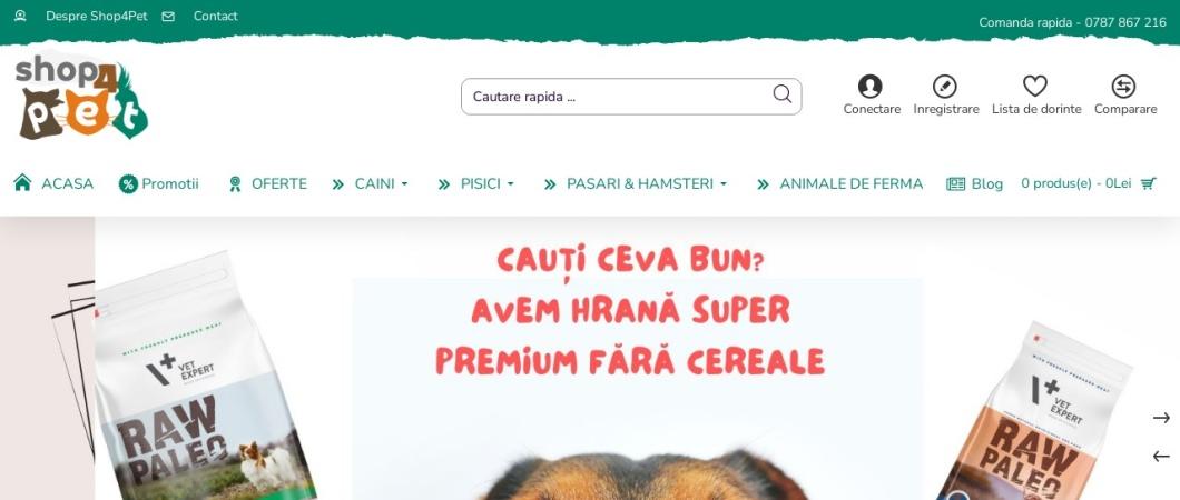 Screenshot of www.shop4pet.ro