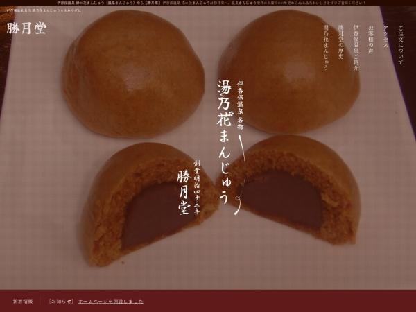 Screenshot of www.shougetsudo.net