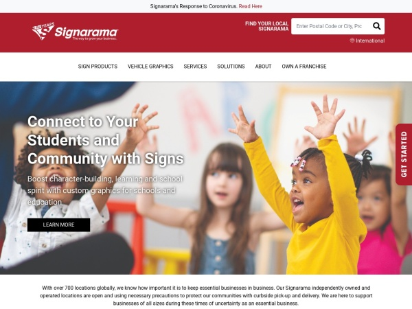 Screenshot of www.signarama.ca
