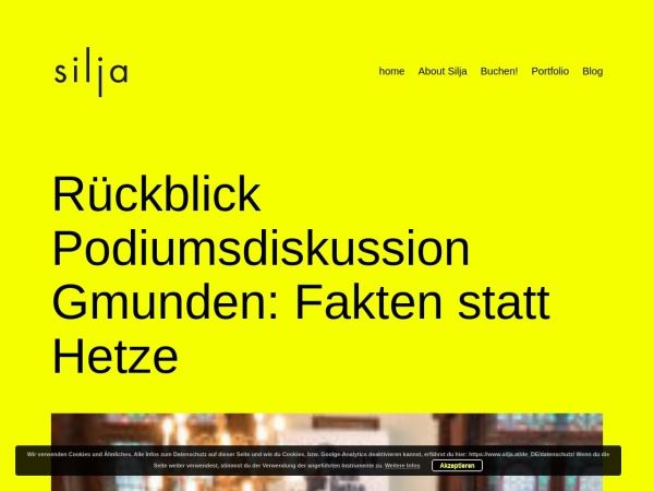 Screenshot von www.silja.at