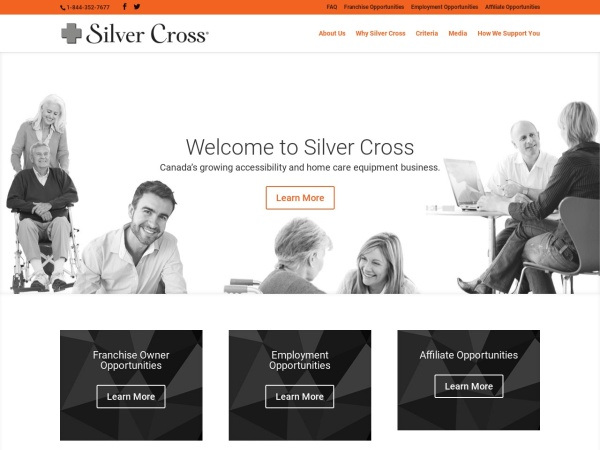 Screenshot of www.silvercrossfranchise.com