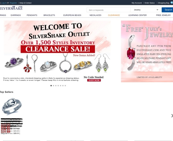 Screenshot of www.silvershake.com
