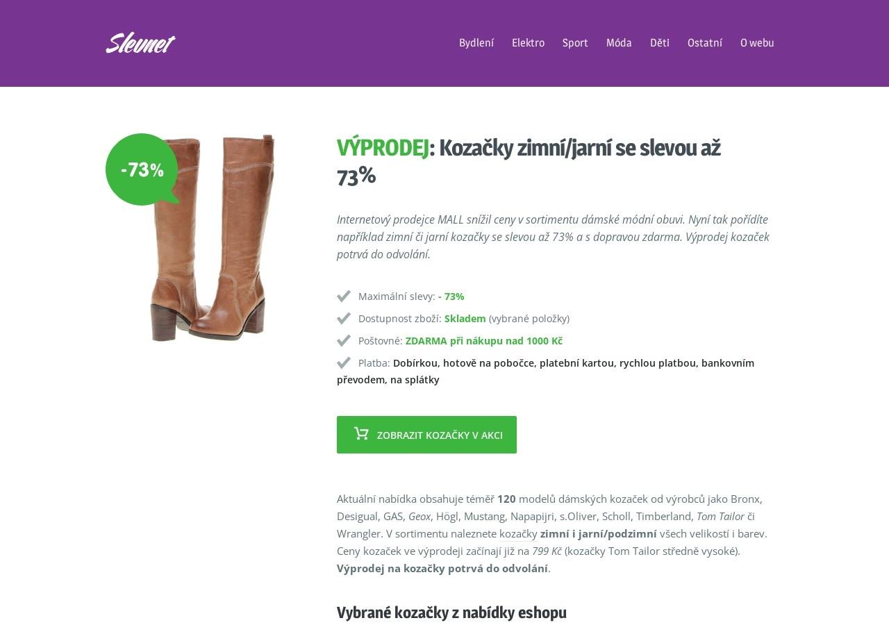 Výprodej: Kozačky zimní/jarní se slevou až 73% (Zdroj: Wordpress.com)
