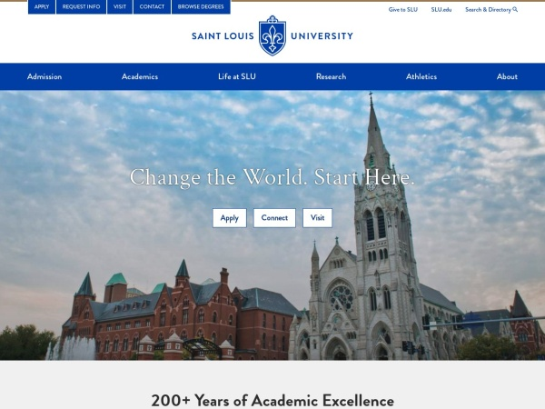 Screenshot of www.slu.edu