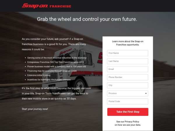 Screenshot of www.snaponfranchise.ca