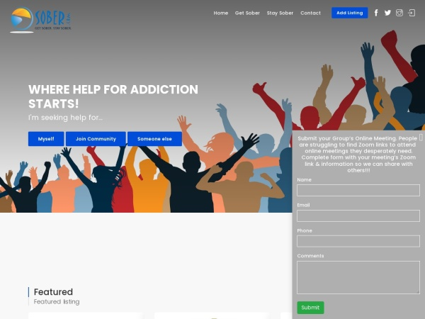 Screenshot of www.sober.com