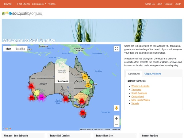 Screenshot of www.soilquality.org.au