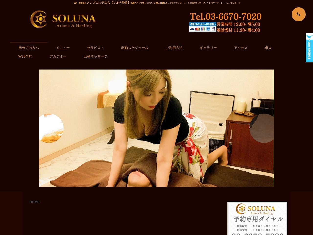 Screenshot of www.soluna-esthe.com